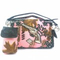 Wholesale Handbag Camo Guns Kw_006 Black /Pink Camo Western  Design  Rhinestone  handbags