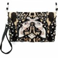 KH_021 Wholesale Trendy Western Cowgirl Messenger Bag Rhinestone Multi Feature Double Pistol Leopard Print Hipster Crossbody Handbag Black