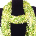 CS_001 Wholesale Green Gradient Confetti Scarf