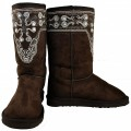 K8208_CHOCOLATE Western UGG Style Winter Boot