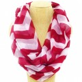 CS_001 Wholesale Maroon Solid Color Chevron Infinity Scarf