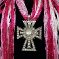 SJ026 Wholesale Pink White Expandable Lace Silver Clear Rhinestone Cross Jewelry Scarf