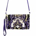 KH_021 Wholesale Trendy Western Cowgirl Messenger Bag Rhinestone Multi Feature Double Pistol Leopard Print Hipster Crossbody Handbag Purple