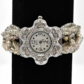 Watch_007 Champagne Wholesale Intricate Layered Beaded Watch