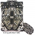 Wholesale Handbags Black Western Rhinestone Buckle Embroidery Cross Body Messenger bag KW13BK