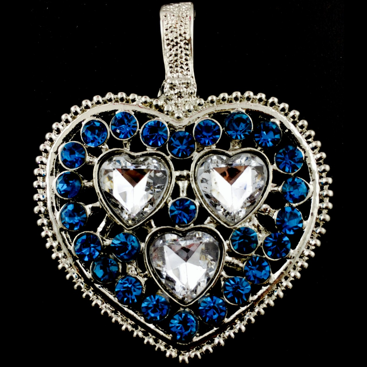 Pen 026 wholesale turquoise clear heart gemstone for Wholesale cowgirl bling jewelry