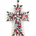 Wholesale Multicolor Bead Rhinestone Alloy Metal Pendant with Magnetic Closure