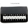 Wholesale Wallet Rhinestones Western Cowgirl Black And Black Wallet With Strap Hipster Cross Body Kf 05w