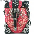 Wholesale Handbags Pink Western Rhinestone Buckle Embroidery Cross Body Messenger bag KW13BK