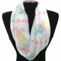IS002 White Wholesale Multicolor Assorted Size Colors Fleur De Dis Infinity Scarf