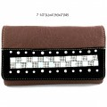 Wholesale Wallet Rhinestones Western Cowgirl Brown Black And Black Fashion Wallet With Strap Hipster Cross Body Kf 05w