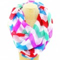 CS_001 Wholesale Multicolor Solid Color Chevron Infinity Scarf