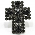 RNG_017_Black Wholesale Full Black Rhinestone Premium Stretch Ring
