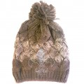 WH 008 Wholesale Winter Snow Beanie With Rhinestone Fleur De Lis Brown Edition