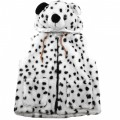 AJ_004 Wholesale Cute Warm Children's Snow LeopardAnimal Jacket with Hat Black and White