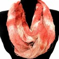 S-1231-3 Wholesale Butterfly 2 Layer Soft Infinity Scarf - Red